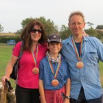 family with medals