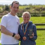Sarah Hyde Half marathon winner & race coordinator Steven Knell